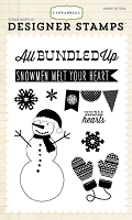 Carta Bella - All Bundled Up Collection - 4x6 clear stamp set