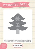 Carta Bella - Designer Dies - All Bundled Up Collection - Snowflake Tree die set