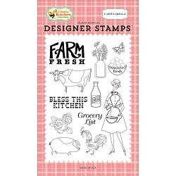 Carta Bella - Country Kitchen Collection - Farm Fresh Clear Stamp