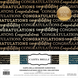 Carta Bella - Foil Collection - Congratulations Gold Foil Collection Pack