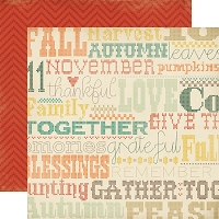 Carta Bella - Fall Blessings Collection - 12