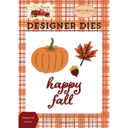 Carta Bella - Fall Break Collection - Happy Fall Die Set
