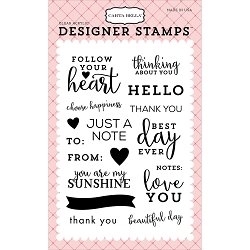 Carta Bella - Flora 1 Collection - Flora 1 Simply Stated Clear Stamp