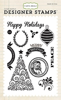 Carta Bella - Have A Merry Christmas Collection - Happy Christmas Stamp