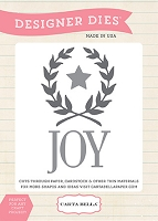 Carta Bella - Have A Merry Christmas Collection - Joy Wreath Designer Die