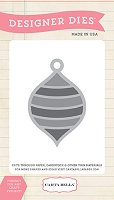 Carta Bella - Have A Merry Christmas Collection - Striped Ornament Designer Die