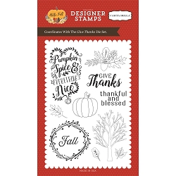 Carta Bella - Hello Fall Collection - Give Thanks Clear Stamp