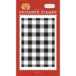 Carta Bella - Hello Fall Collection - Buffalo Plaid Background Clear Stamp