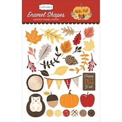 Carta Bella - Hello Fall Collection - Enamel Shapes