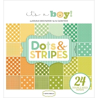 Carta Bella - It's a Boy Collection - Dots and Stripes 6x6 Paper Pad