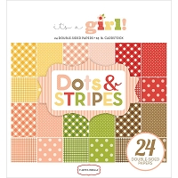 Carta Bella - It's a Girl Collection - Dots and Stripes 6x6 Paper Pad