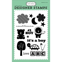 Carta Bella - It's a Boy Collection - Baby Boy Stamp