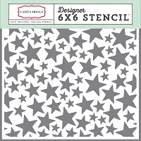 Carta Bella - It's a Boy Collection - Stars Stencil (6