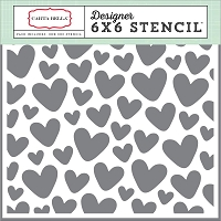 Carta Bella - It's a Girl Collection - Hearts Stencil (6