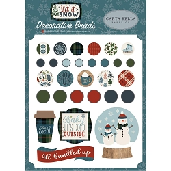 Carta Bella - Let It Snow Collection - Decorative Brads