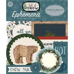 Carta Bella - Let It Snow Collection - Die Cut Ephemera