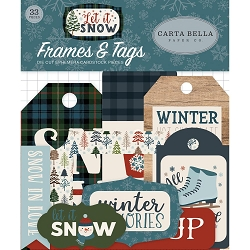 Carta Bella - Let It Snow Collection - Die Cut Tags & Frames