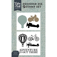 Carta Bella - Old World Travel Collection - Adventure Is Out There clear stamps & dies :)
