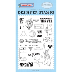 Carta Bella - Passport Collection - Get Set Go Clear Stamp