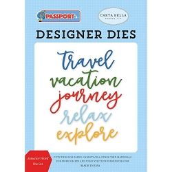 Carta Bella - Passport Collection - Jetsetter Word Die Set