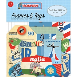 Carta Bella - Passport Collection - Die Cut Tags & Frames