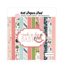 Carta Bella - Rock-a-Bye Baby Girl Collection - 6x6 Paper Pad