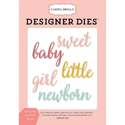 Carta Bella - Rock-a-Bye Baby Girl Collection - Sweet Little Girl Word Die Set