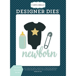 Carta Bella - Rock-a-Bye Baby Boy Collection - Newborn Necessities Die Set