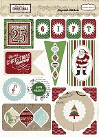Carta Bella - So This Is Christmas Collection by Carina Gardner - Layered Adhesive Stickers