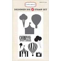 Carta Bella - Soak Up The Sun Collection - Carnival Fun Die/Stamp Combo