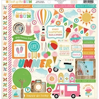 Carta Bella - Soak Up The Sun Collection - Sticker Sheet :)
