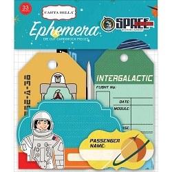 Carta Bella - Space Academy Collection - Die Cut Tags & Frames
