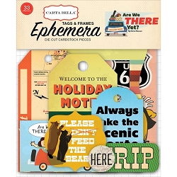 Carta Bella - Are We There Yet? Collection - Die Cut Tags & Frames