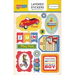 Carta Bella - Toy Box Collection - Layered Stickers