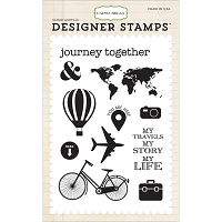 Carta Bella - Travel Stories Collection - Journey Together 4x6 Stamp