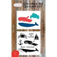 Carta Bella - Yacht Club Collection - Bon Voyage Die & Stamp Set