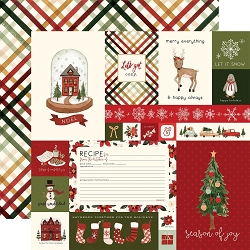 Carta Bella - Hello Christmas Collection - Journaling Cards 12
