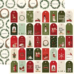 Carta Bella - Hello Christmas Collection - Holiday Tags 12