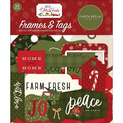 Carta Bella - Hello Christmas Collection - Die Cut Tags & Frames