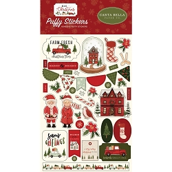 Carta Bella - Hello Christmas Collection - Puffy Stickers
