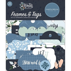Carta Bella - Winter Market Collection - Die Cut Tags & Frames