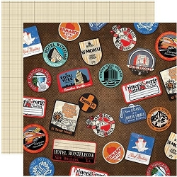 Carta Bella - All Aboard Collection - Luggage Stickers 12
