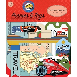 Carta Bella - All Aboard Collection - Die Cut Tags & Frames
