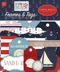 Carta Bella - By The Sea Collection - Die Cut Tags & Frames