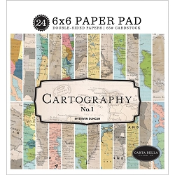 Carta Bella - Cartography No.1 Collection - 6x6 Paper Pad