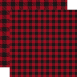 Carta Bella - Buffalo Plaid Collection - Red Buffalo Plaid 12