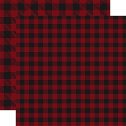Carta Bella - Buffalo Plaid Collection - Dark Red Buffalo Plaid 12