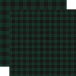 Carta Bella - Buffalo Plaid Collection - Green Buffalo Plaid 12