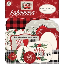 Carta Bella - Christmas Market Collection - Die Cut Ephemera