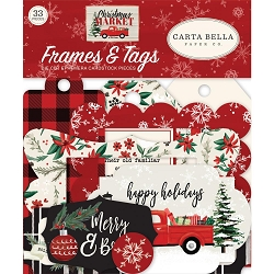 Carta Bella - Christmas Market Collection - Die Cut Tags & Frames